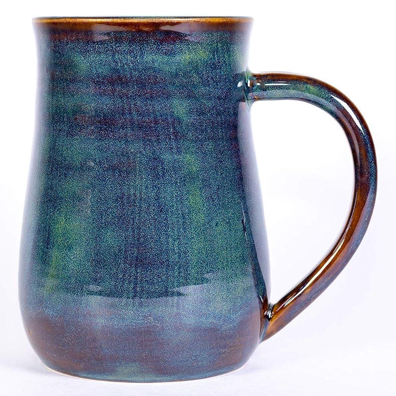 Forest Green Pottery Mug