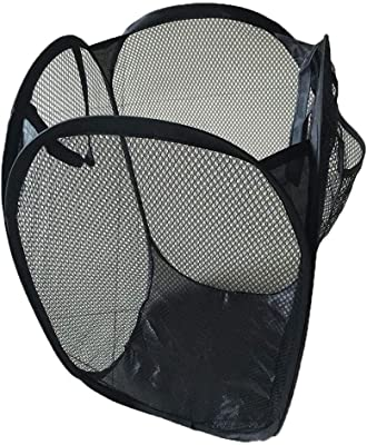 Aryshaa Premium Quality Foldable Net/Mesh Laundry Basket, Storage Bag for Clothes, Toys.(Pack of 1)