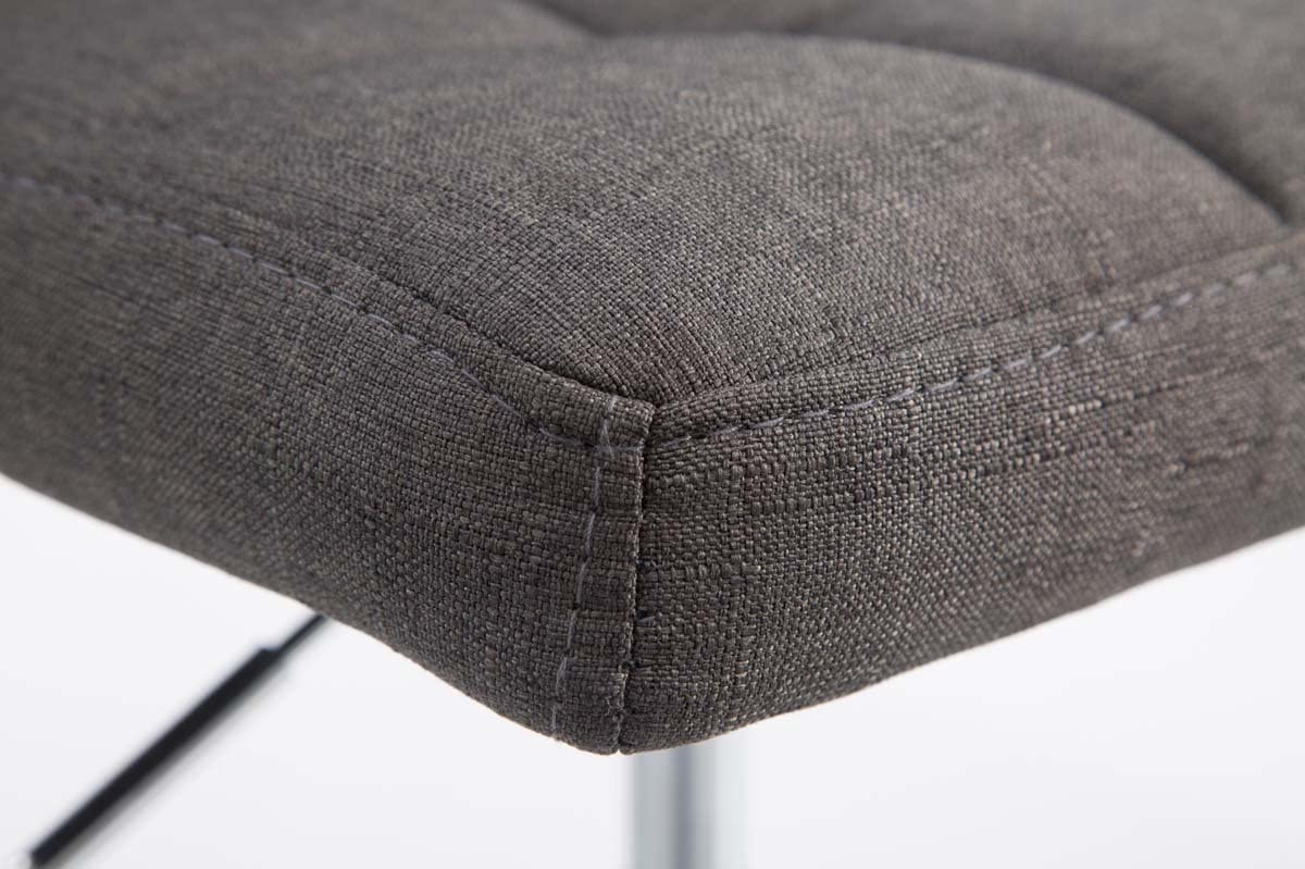 CLP Set de 2 Chaises lounge Palma V2 - Rembourrés en Tissu - Chaises Hautes Pivotantes avec Hauteur Réglable - Support en Métal, Couleurs:gris foncé Gris Foncé