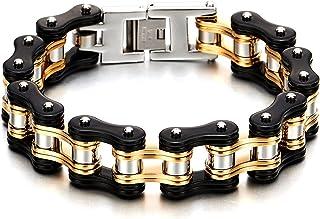 Masculine Mens Bike Chain Bracelet of Stainless Steel...