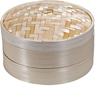 Premium 2 Tier Non-stick Bamboo Steamer - A Deluxe Asian Steamer by Saint Germain Bakery