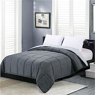 Homelike Moment Reversible Lightweight Comforter King Gray All Season Down Alternative Bed Comforter Summer Duvet Insert Q...