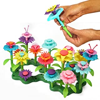 Axel Adventures Flower Building Toy Set, 47 Pc Sensory Educational Toy for Girls and Boys, Toddler Learning Game for Kids,...