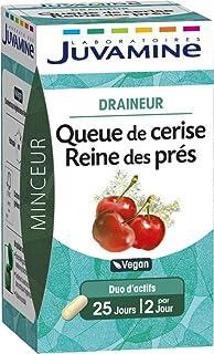 JUVAMINE - Draineur - Queue de Cerise Reine des Prés - Minceur - Vegan - 50 comprimés