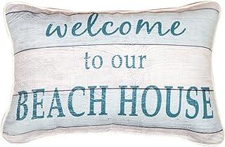 "Throw Pillows - Welcome to Our Beach House Pillow - 12.5"" X 8.5"" - Beach Decor"