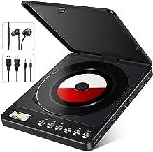 NIXIUKOL Tragbarer CD Player 1500mAh Persönlicher Wiederaufladbar MP3 CD Player mit..
