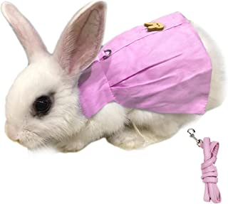 Alfie Pet - Indie Harness and Leash Set for Small Animals Like Guinea Pigs and Rabbits - Color: Pink, Size: Small