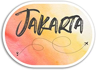 2 x 10cm Jakarta Vinyl Stickers - Indonesia Travel Sticker Luggage Laptop #17933 (10cm Wide)