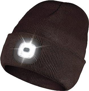قبعة بيني بمصباح LED من FENZE مزودة بإضاءة، قابلة لإعادة الشحن عن طريق USB، إضاءة قابلة للتعديل، ملحقات التخييم، في الهواء...