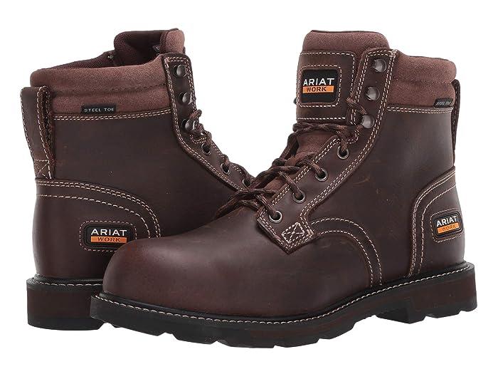 Ariat  6 Groundbreaker II Steel Toe (Brown) Mens Work Boots