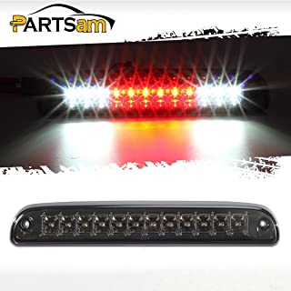 Partsam Red/White 12 LED Smoke Lens Chrome Housing Tail High Mount 3rd Third Brake Light Cargo Lamp Waterproof Replacement for Ford F-250 F-350 F-450 F-550 Super Duty 1999-2016 /Ford Ranger 1993-2011