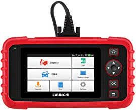 "LAUNCH Scan Tool CRP123X OBD2 Scanner Check Engine ABS SRS Transmission Code Reader Car Diagnostic Tool, Android 7.0-Based Wi-Fi One-Click Free Updates, 5.0""LCD Touchscreen, Upgrade Version of CRP123"