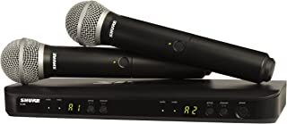 Shure BLX288/PG58 H9 | Two PG58 Handheld Microphones Dual Channel Handheld Wireless System