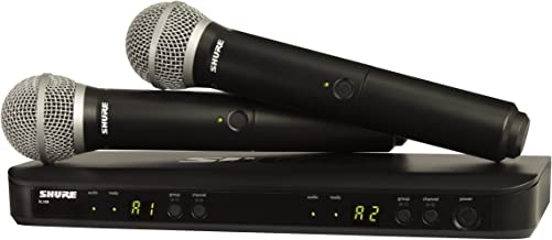 Shure BLX288/PG58 H9   Two PG58 Handheld Microphones Dual Channel Handheld Wireless System