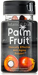 Palm Fruit - Anti-Aging Supplement for Skin Health, Hair Loss, Free Radical Protection (60 Pills)