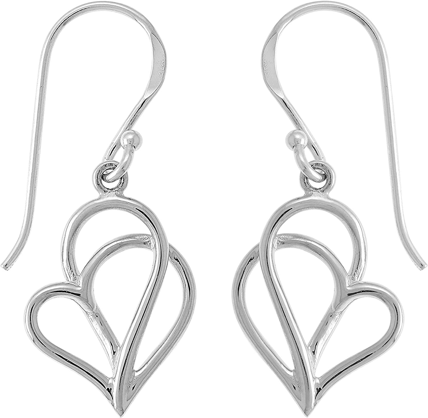 Boma Jewelry Sterling Silver Polished OFFer Earr SEAL limited product Twisting Dangle Heart
