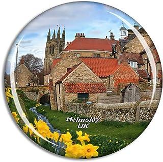 Weekino UK England Helmsley Walled Garden Fridge Magnet Travel Souvenir City Collection 3D Crystal Glass Gift Strong Refri...