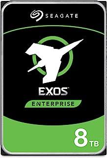 Seagate Exos, 8 TB, Disco duro interno, HDD, 3,5 in, 6 Gb/s, 7200 r.p.m., caché de 128 MB para empresas, centro de datos (ST8000NM0075)
