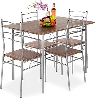 Best Choice Products 5-Piece 4ft Modern Wooden Kitchen...
