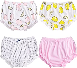 XMS-Tech Soft Toddler Bloomers for Baby Girls Cotton Underwear Training Pants Pack of 4
