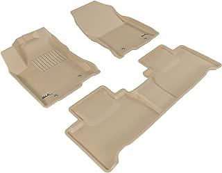 3D MAXpider Complete Set Custom Fit All-Weather Floor Mat for Select Lexus NX/ NX Hybrid Models - Kagu Rubber (Tan)