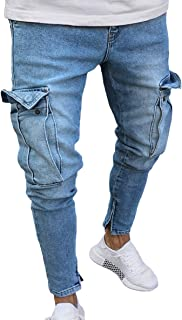 Men's Stretchy Ripped Skinny Jeans -  Multicolour - One Size