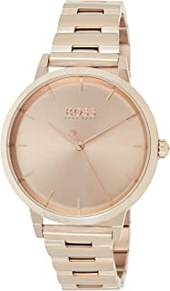 Hugo Boss Womens Quartz Watch, Analog Display and Stainless Steel Strap 1502502