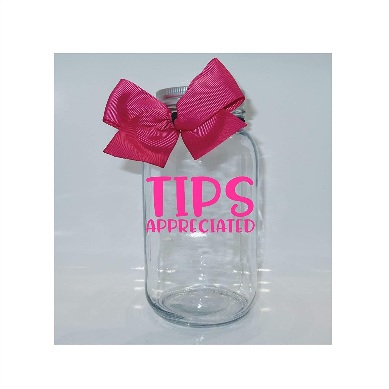 Tips Appreciated Mason Jar Bank - Coin Slot Lid - Available in 3 Sizes