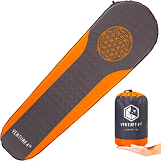 Self Inflating Sleeping Pad - No Pump or Lung Power Required - Warm, Quiet and Supportive Mattress For a Comfortable Night...