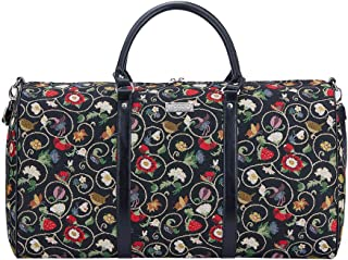 Signare Tapestry Large Duffle Bag Overnight Bags Weekend Bag for Women with Jacobean Dream Design