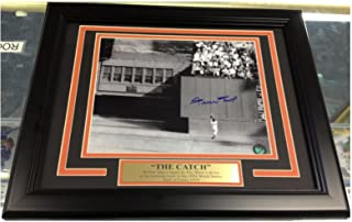 willie mays autographed photo the catch