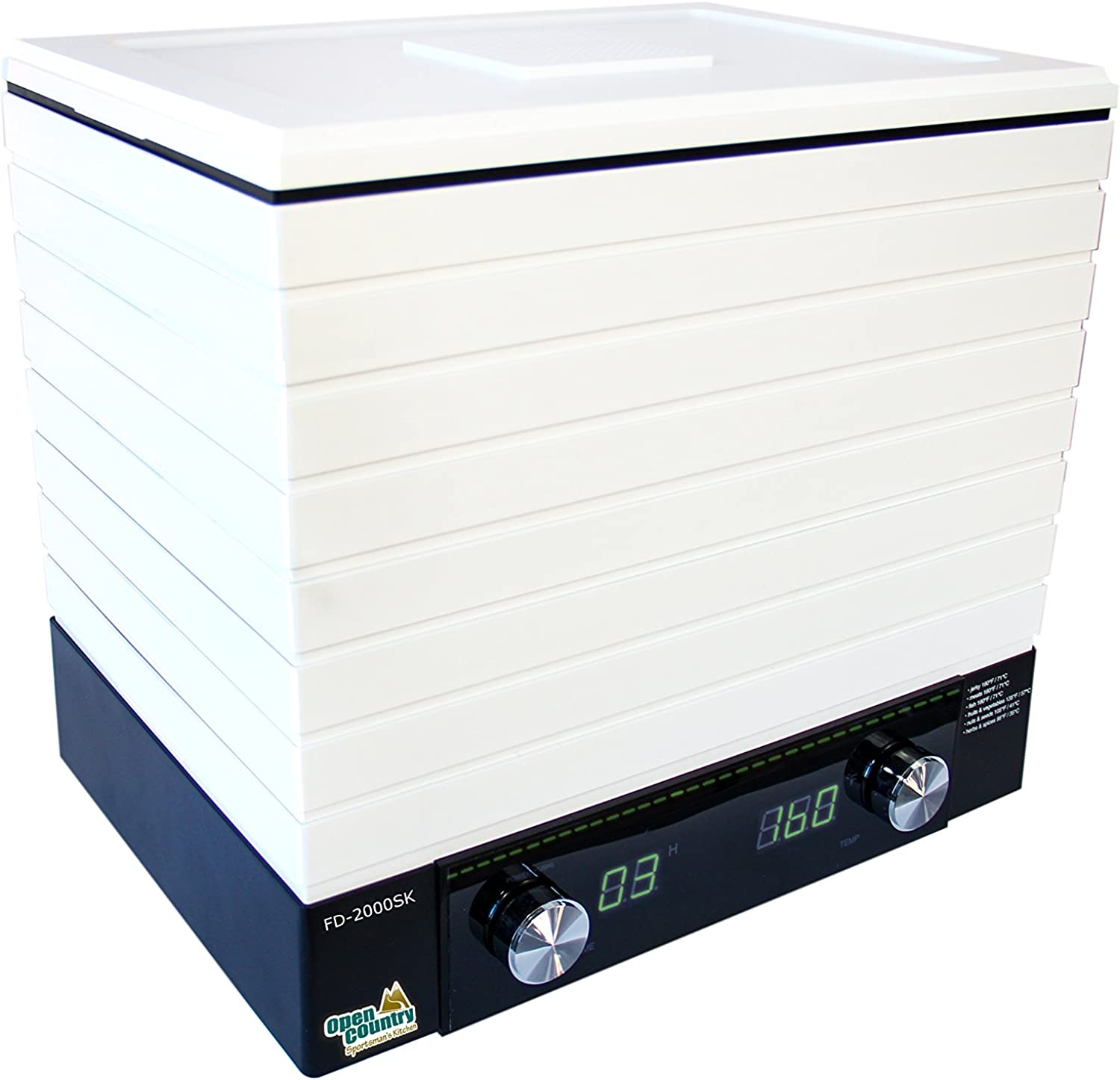 Open Country FD-2000SK Square Digital Dehydrator