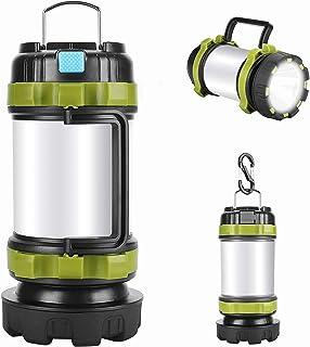 فانوس چراغ قوه کمپینگ LED با قابل شارژ ، جدیدترین فناوری COB (800 لومن) ، ضد آب ، قابل حمل در مواقع اضطراری ، کمپینگ و سایر فعالیت های عصرانه