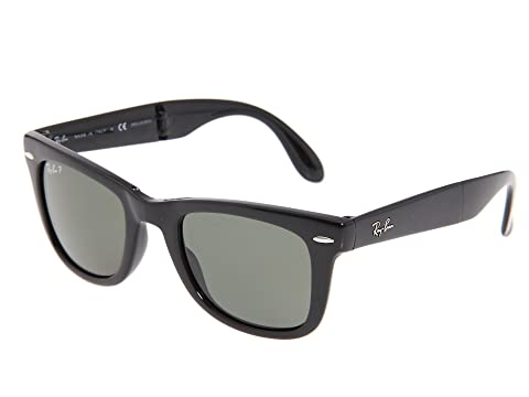 36ce92da32 Ray-Ban RB4105 Folding Wayfarer Polarized 50 Medium at Zappos.com
