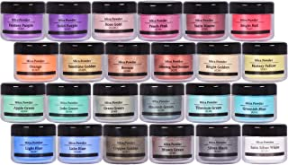 Mica Powder 24 Color 10g Each Pack,Powdered Set for Painting Pigments, Nail Polish, Fine Arts, Lip Gloss, Makeup, Bath Bom...