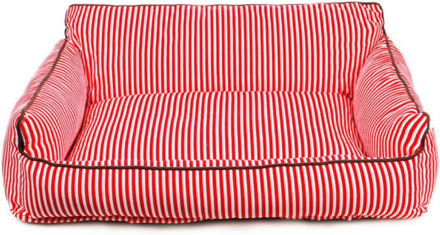 CZHCFF Dog bed with striped sofa bed fashion dog soft puppy pet cat puppy bed