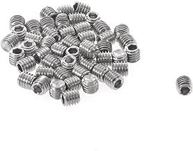 RETYLY 50 stks M3x3mm RVS Hex Socket Set Cap Point Grub Schroeven Zilver