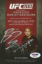 BJ Penn Signed UFC Gym Event Flyer Promo Card COA Autograph B.J 46 35 41 - PSA/DNA Certified - Autographed UFC Miscellaneous Products