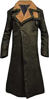 Ryan Gosling Blade Runner 2049 Cotton Green Trench Coat, XXS - 3XL