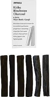 IPPINKA Kishu Binchotan Charcoal Slim Personal Sticks, 6 Sticks of Water Filter