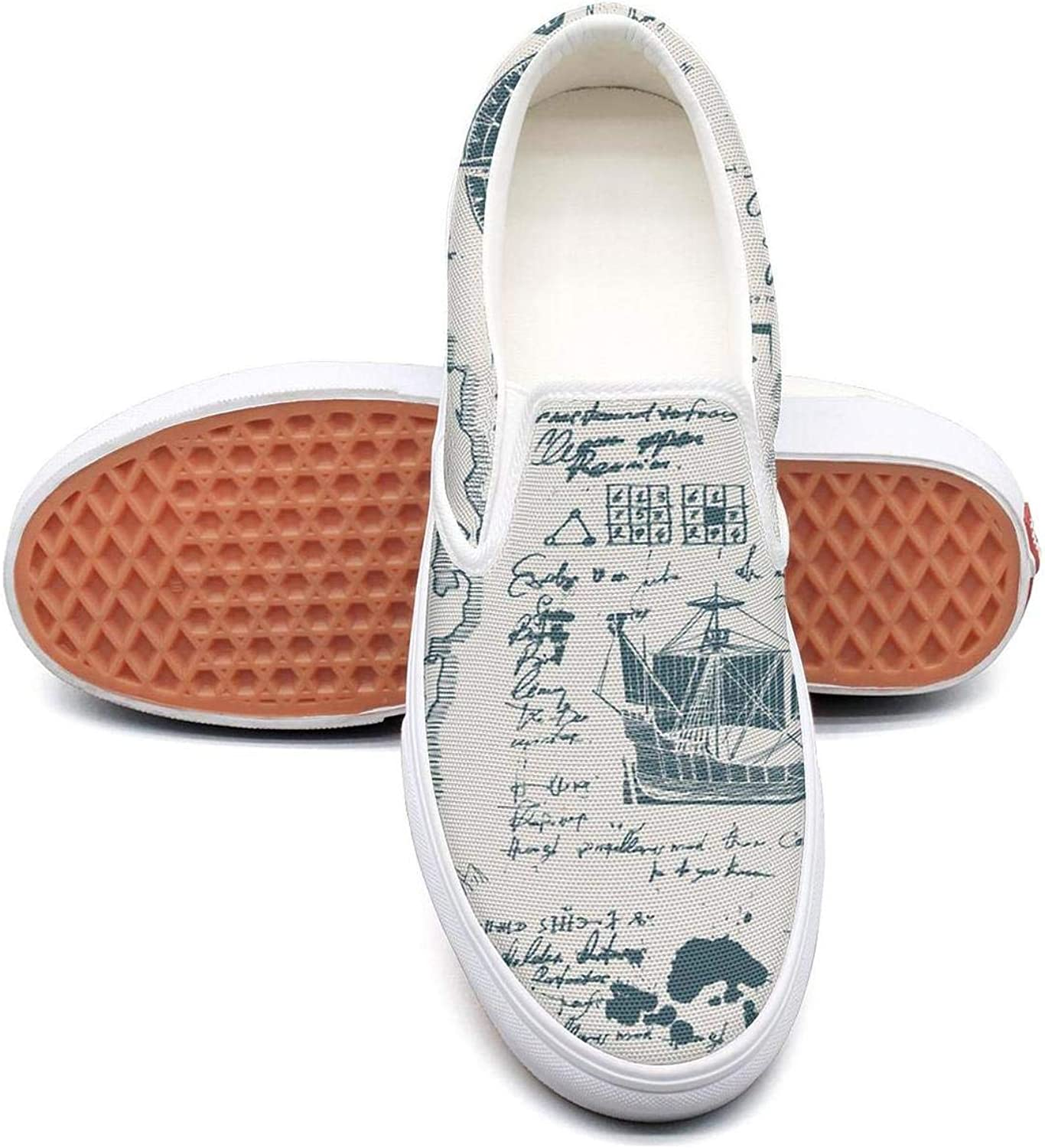 Refyds-es Vintage Travel Moon Womens Fashion Slip on Low Top Lightweight Canvas Sneakers shoes
