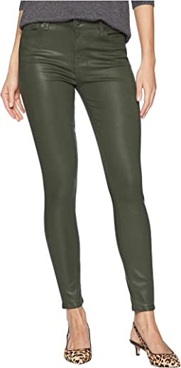 Ankle Skinny in Moss Green Coated Color