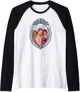 Bedazzled Logo on Mirror Girls Trio Raglan Baseball Tee