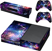 FOTTCZ Whole Body Vinyl Skin Sticker Decal Cover for Microsoft Xbox One Console Starry Nebular