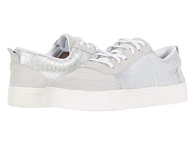 KAANAS Levanzo Croc-Embossed Sneaker (Silver) Women