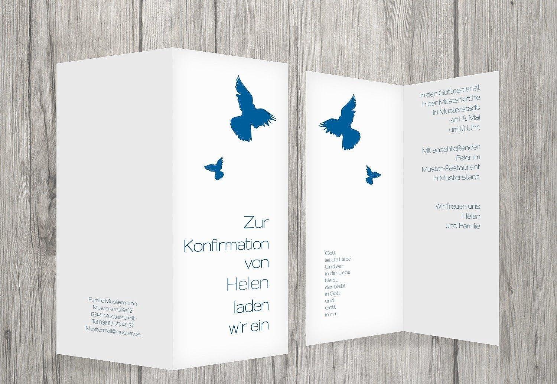 Kartenparadies Einladungskarte Konfirmation Taube, hochwertige Einladung Einladung Einladung zur Konfirmationsfeier inklusive Umschläge   10 Karten - (Format  105x215 mm) Farbe  Blau B01N6WWQVG | Offizielle Webseite  | Online Outlet Shop  | Überlegen  f83a5e