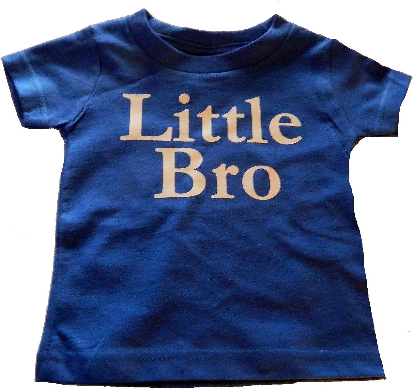 Custom Kingdom Boys Little Bro Brother T-Shirt Royal Blue
