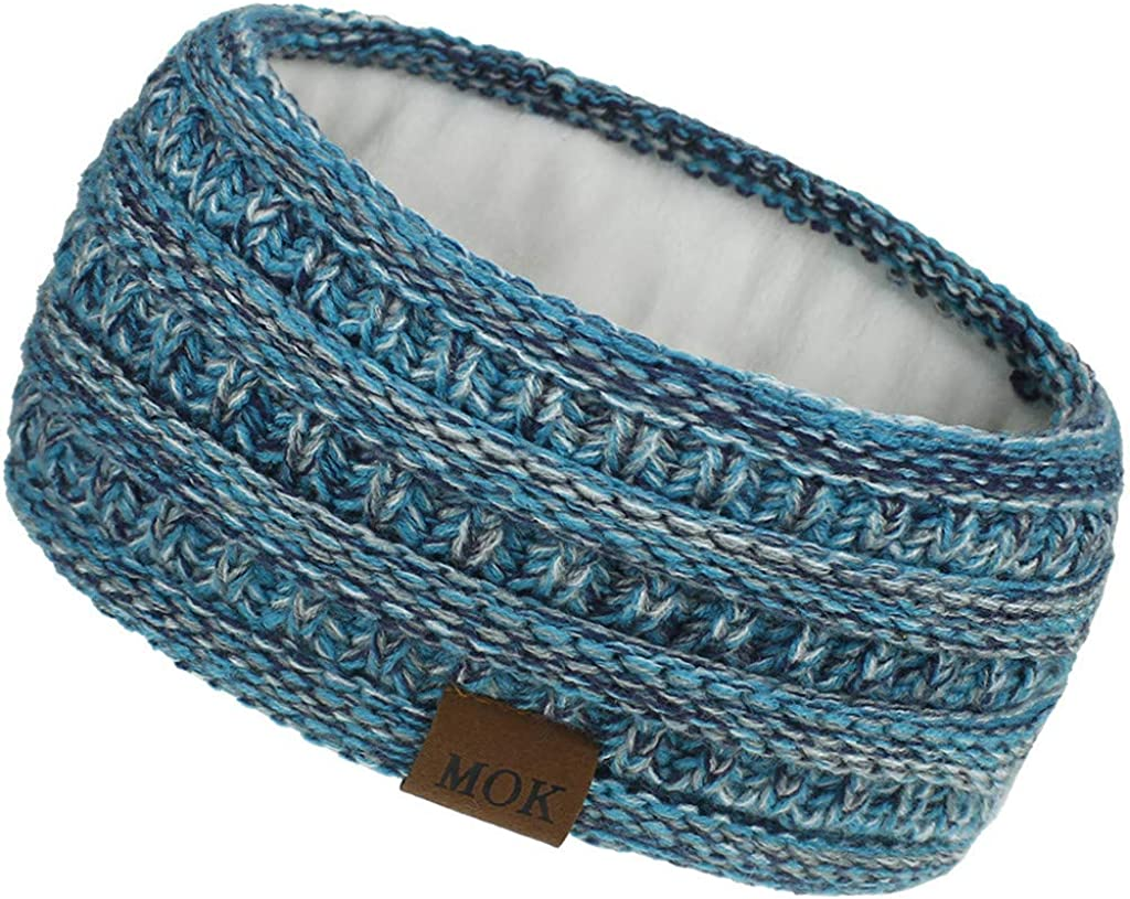 YSLMNOR Knitting Headband Limited price sale for Women Max 77% OFF Sport Outdoor Warmer Ear Bow