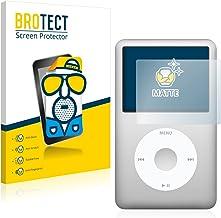 BROTECT Protector Pantalla Anti-Reflejos Compatible con Apple iPod Classic 160 GB (7a generación) (2 Unidades) Pelicula Mate Anti-Huellas