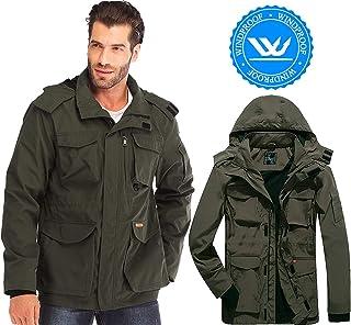 ada09c2a1666 Yozai Mens Lightweight Hooded Windbreaker Jacket with Pockets